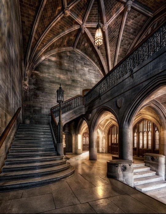 Deserted staircase
