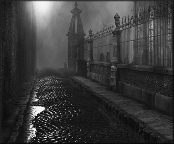 Cobblestone by cemetery