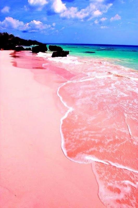 pinkest sand