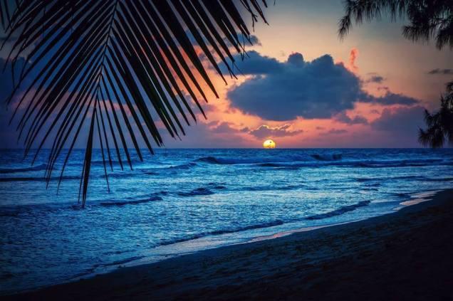 waves shore blue