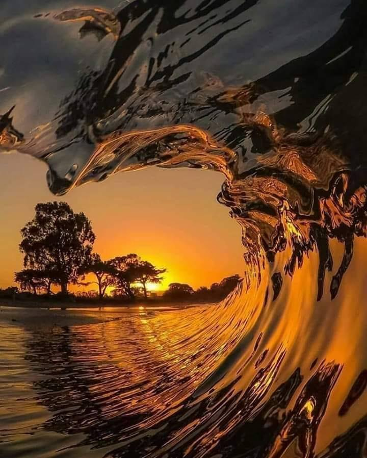 Sunsetting Waves