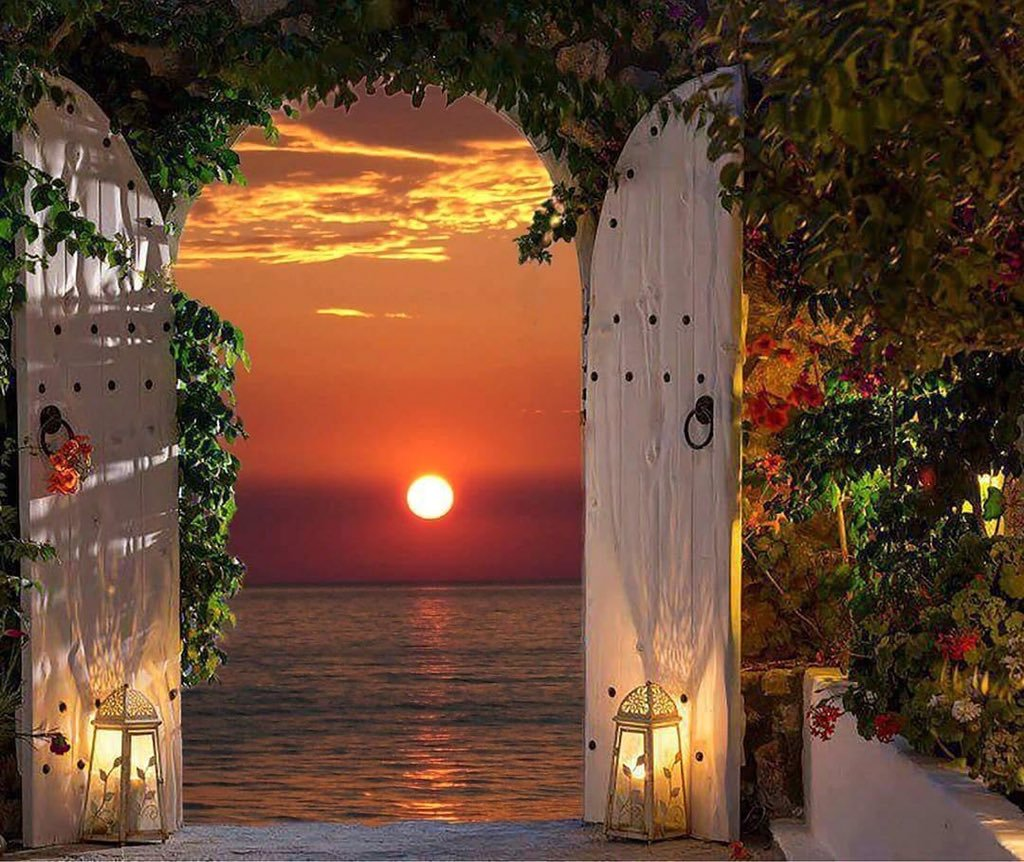 door sunset
